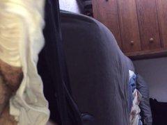 Cumming on vidz my moms  super beige panties