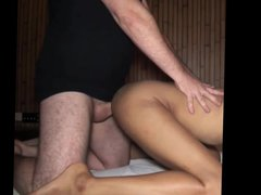 Thai boy vidz gets fucked  super doggy style by big white top