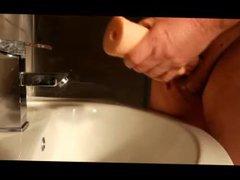 Old Guy vidz Jerk Off  super in the Bathroom