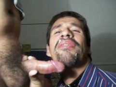 Slave deepthroating vidz his master's  super huge cock