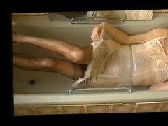 vintage nylon vidz full length  super slip shower