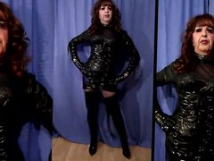 Mandy PVC vidz Tranny Whore