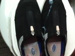 my small vidz cock jizzed  super on girlfriend shoes