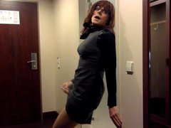Tranny masturbation vidz in office  super dress