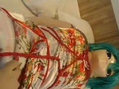 kigurumi cosplay vidz boundage vibrating