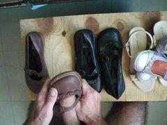 sperme dans vidz ballerine et  super sandale