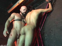 Bald studly vidz master scores  super his boy sub at the cross