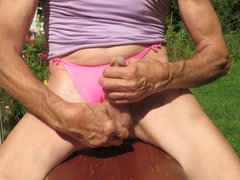 Panty boy vidz masturbates on  super his panties