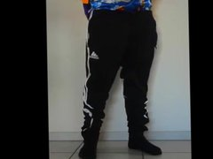 Sagging in vidz Adidas Sweatpants  super and Satain Boxers Bulge