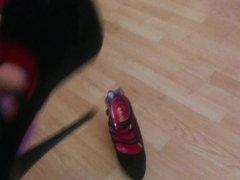 Heels Black vidz Shoes, of  super not my sister shoesjob footjob cum in