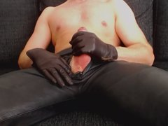 leather pants vidz cumshot