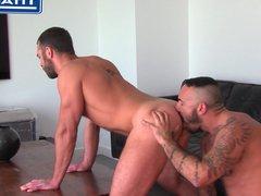 Big Dicked vidz Tattooed Latin  super Sucks Cock