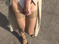 Pantyhose Outdoor vidz part 5  super of 6