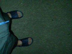 Nachts in vidz der Einfahrt