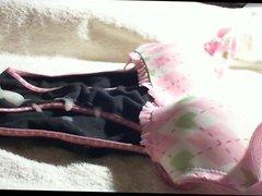 cum on vidz black pink  super panties