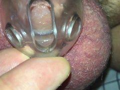 Leaking precum vidz in chastity  super closeup