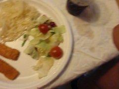 My classmate vidz cummin in  super my dinner