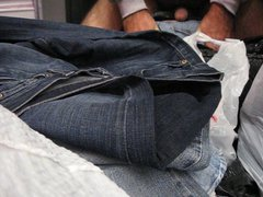 Jacking off vidz two nuts  super onto my girl's bag of old jeans