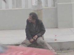 Str8 spy-caught vidz a homeless  super jerking off