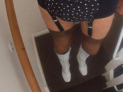 Boots Stockings vidz Suspenders Pleated  super Skort