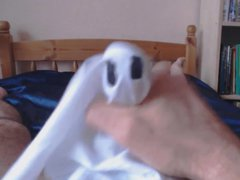 Halloween jerkoff vidz with cock  super wrapped in a spooky handkerchief