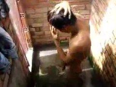 Str8 spy vidz boy in  super shower