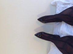 Long stockings vidz cumshot