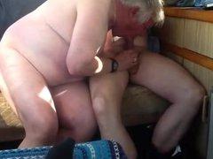 White-haired grandpa vidz sucks huge  super cock
