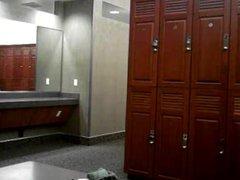 Hunk jerking vidz in the  super locker room