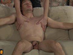 Horny Kieron vidz push his  super big dick deep into Jaxon mouth
