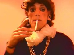 Smoking 120's vidz with long  super nails and Stockings