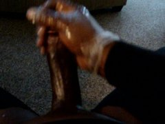 Thick Black vidz Oily Cock  super POV wank