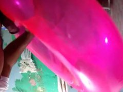 Fuck and vidz cum on  super sexy pink inflatable swim ring