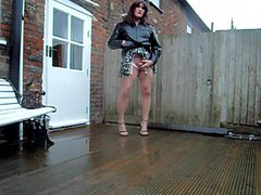 windy and vidz wet in  super the garden in more ways than one x