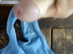 Jerked off vidz in dirty  super panties of my neighbour