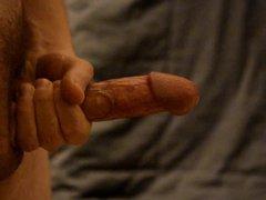 Standing ejaculation vidz (side view,  super slowmotion 0.4x)