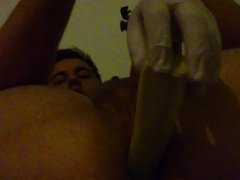 Toying my vidz Ass with  super selfemade toy Part 2