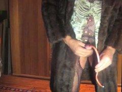 transsexual as vidz fur coat  super sounds and ejaculates