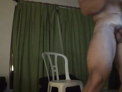 Exciting muscled vidz dude's exhibitionist  super show