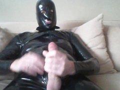 Rubber catsuit vidz and condom  super on head
