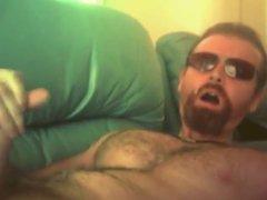 Str8 men vidz massive loads  super on couch