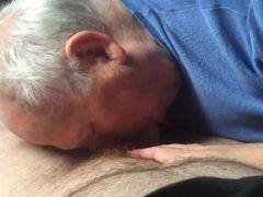 grandpa gives vidz hot blowjob