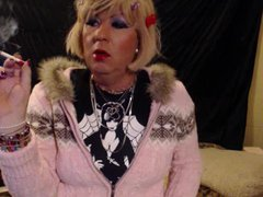 short blond vidz hair sissy  super gurl smoking yummy