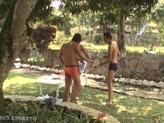 Latin Twink vidz Bareback Fucking  super Gay Threesome