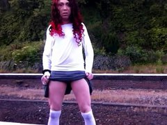 stripping at vidz train station