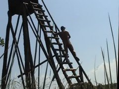 Humping the vidz ladder of  super a raised stand
