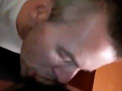 Blue eyed vidz man sucking  super big cock
