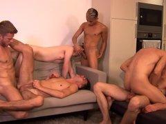 not daddy's vidz Orgy -  super Six Man Orgy!
