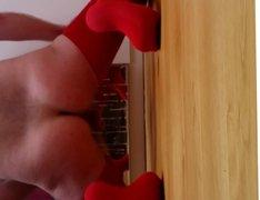 Red thigh vidz highs and  super a cumload