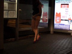 Jerking in vidz Nylon at  super the Bus Station caught public